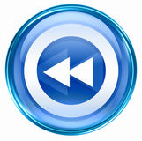 Rewind icon blue Royalty Free Stock Image