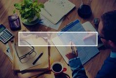 Rewizi pudełka kopii przestrzeni Onlinego gmerania Pusty pojęcie Obraz Stock