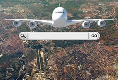 Rewizja bar w wyszukiwarce i samolocie Zdjęcia Stock