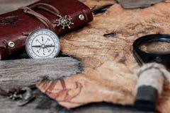 Rewizja i kompas Zdjęcie Stock