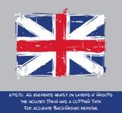 Rewoluci Amerykańskiej Brytyjski flaga mieszkanie - Artystyczny muśnięcie Muska a ilustracja wektor