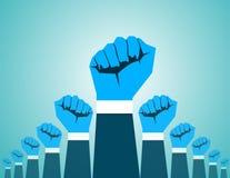 Rewoluci ręka ilustracja wektor