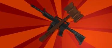 Rewolucja strajka protesta prawa młoteczka czerwonej propagandowej silnej drewnianej młoteczkowej sprawiedliwości ręki legalny są Obrazy Royalty Free