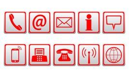 Rewolucjonistek kontaktowe ikony - wektor royalty ilustracja