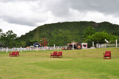 Rewolucjonistek krzesła na zielenieją pole Zdjęcia Stock