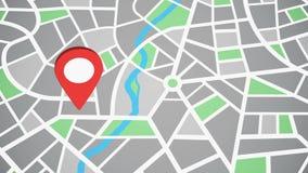 Rewolucjonistek map szpilka Lokacji mapy znak royalty ilustracja