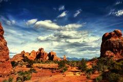 Rewolucjonistek skały, łuki parki narodowi, Utah Zdjęcia Stock