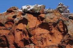 Rewolucjonistek skały w zimie Obrazy Stock