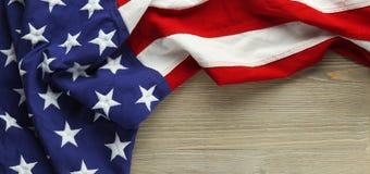 Rewolucjonistka, biel i błękitna flaga amerykańska, Zdjęcie Royalty Free