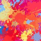 Rewolucjonistka bryzga abstrakcjonistycznego jaskrawego tło Obraz Royalty Free
