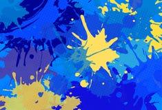 Rewolucjonistka bryzga abstrakcjonistycznego jaskrawego tło Obrazy Stock