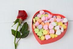 Rewolucjonistka cukierku i róży serca Zdjęcie Stock