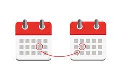 Rewolucjonistka czasu przesuwania się ikony kalendarzowy biznes Obraz Stock