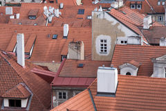 Rewolucjonistka Dachówkowi dachy Praga, republika czech Fotografia Stock