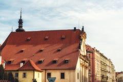 Rewolucjonistka dachy przy dziejowym centrum miasta Praga, czech Republ Obraz Royalty Free