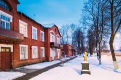 Rewolucjonistka dom Dla Papierowych pracowników fabrycznych w Dobrush, Gomel region, Białoruś Zdjęcia Royalty Free