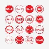 Rewolucjonistka handel detaliczny i zakupy sprzedaż oznaczamy ikony ustawiać Zdjęcie Stock