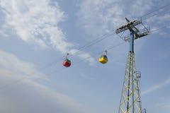 Rewolucjonistka i żółci powietrzni tramwaje Obraz Stock