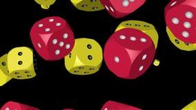 Rewolucjonistka i Żółte kolor kostki do gry Zderzający się zdjęcie wideo