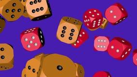 Rewolucjonistka i pomarańczowe kolor kostki do gry zderzający się zbiory wideo