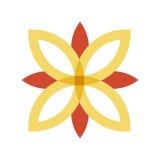 Rewolucjonistka i złocisty kwiatu logo Zdjęcie Royalty Free