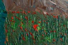 Rewolucjonistka kwitnie z nafcianymi farbami royalty ilustracja