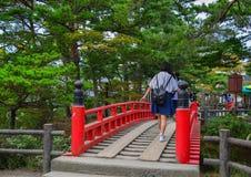 Rewolucjonistka most świątynia w Matsushima, Japonia Obraz Royalty Free