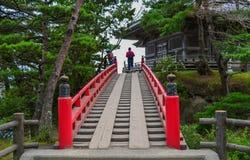 Rewolucjonistka most świątynia w Matsushima, Japonia Fotografia Royalty Free