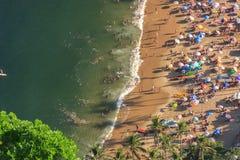 Rewolucjonistka plażowy widok z wierzchu wzgórza urca obraz stock