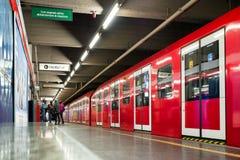 Rewolucjonistka pociąg w Mediolańskim metrze, Włochy Obrazy Royalty Free