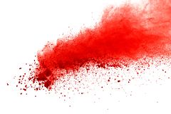 Rewolucjonistka prochowy wybuch na białym tle Farba Holi zdjęcia stock