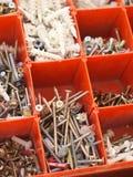 Rewolucjonistka przegradzający pudełko elektryk śruby Zdjęcie Royalty Free