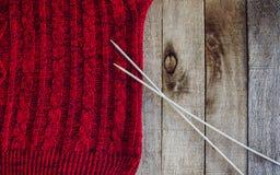 Rewolucjonistka trykotowy pulower z igły teksturą zdjęcie stock