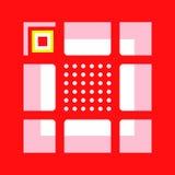 Rewolucjonistka wzór kwadraty i okręgi Fotografia Stock