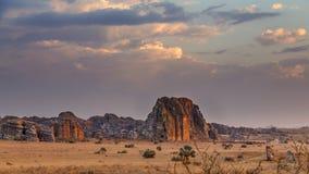 Rewolucjonistka zmierzchu rockowy krajobraz w Madagascar Fotografia Stock