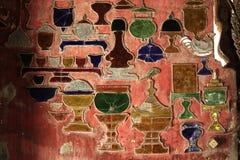 Rewolucjonistki ściana dekorująca z barwiącym szkłem zdjęcie stock