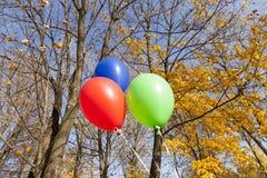 Rewolucjonistki błękita i zieleni balony zdjęcie royalty free