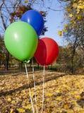 Rewolucjonistki błękita i zieleni balony obrazy stock