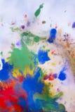 Rewolucjonistki, błękita, zieleni i koloru żółtego kolory na papierze, Zdjęcia Royalty Free