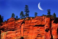 Rewolucjonistki falezy twarzy Zions parka narodowego Utah pustkowia Rockowa góra Obrazy Royalty Free
