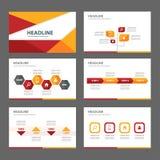 Rewolucjonistki i pomarańczowego wielocelowego broszurki ulotki ulotki strony internetowej szablonu płaski projekt Obrazy Stock