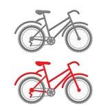 Rewolucjonistki i szarość rower Fotografia Royalty Free