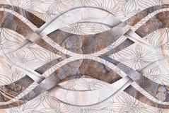 Rewolucjonistki Kamienny Abstrakcjonistyczny tło Bezszwowy royalty ilustracja