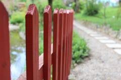 Rewolucjonistki ogrodzenie w parku obrazy stock