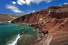 Rewolucjonistki Plaża, Santorini Obraz Royalty Free
