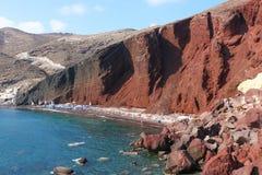 Rewolucjonistki Plaża, Santorini Obrazy Royalty Free