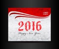 Rewolucjonistki pokrywy kalendarza 2016 projekta szablon Zdjęcia Stock