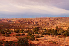 Rewolucjonistki pustynia przy zmierzchem, Utah Fotografia Royalty Free