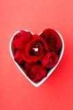 Rewolucjonistki róża i diamentowy pierścionek Obraz Royalty Free