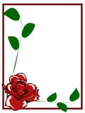 Rewolucjonistki róży granica Zdjęcia Royalty Free